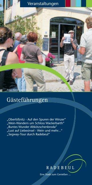 Gästeführungen - Radebeul