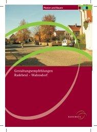 Gestaltungsempfehlungen Radebeul - Wahnsdorf