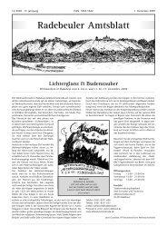 Amtsblatt Dezember 2009 - Radebeul