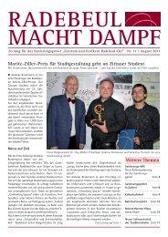 Ausgabe 11 der Sanierungszeitung - Radebeul