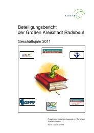 Beteiligungsbericht der Großen Kreisstadt Radebeul