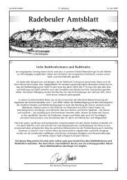 Sonderamtsblatt - Radebeul