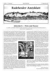 Amtsblatt September 2011 - Radebeul