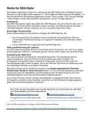 Rente für SED-Opfer - Radebeul