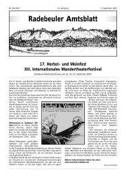 Amtsblatt September 2007 - Radebeul