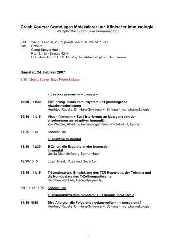 Crash-Course Klinische Immunologie - Heinfried H. Radeke