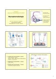 Vorlesung Neuropharmakologie WS 2006/07 - Heinfried H. Radeke