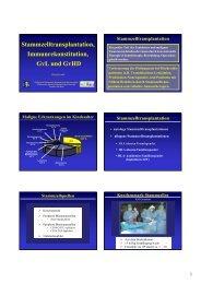 Knochenmarktransplantation, Immunrekonstruktion GvL und GvHD