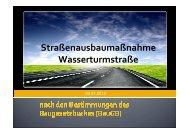 Straßenausbaumaßnahme Wasserturmstraße - Stadt Radevormwald