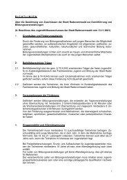 Richtlinien für die Gewährung von Zuschüssen zur Durchführung ...
