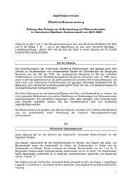 1 Stadt Radevormwald Öffentliche Bekanntmachung Satzung über ...
