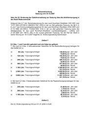 Bekanntmachung Satzung vom 19.12.2007 über die 22. Änderung ...