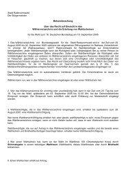 Öffentliche Bekanntmachung über die Auslegung des ...