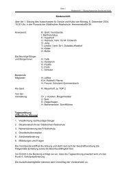 Niederschrift über die 1. Sitzung des Ausschusses für Schule und ...
