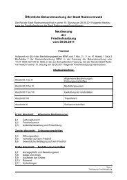 Öffentliche Bekanntmachung der Friedhofssatzung - Stadt ...