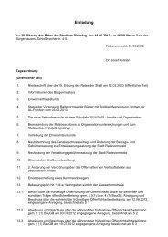 Öffentliche Bekanntmachung der Einladung zur 20. Sitzung des ...