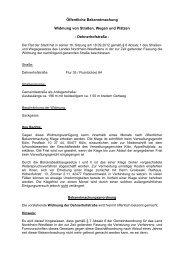 Öffentliche Bekanntmachung Widmung von Straßen, Wegen und ...