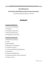 Geschäftsordnung für den Rat der Stadt Radevormwald und seine ...
