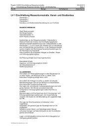 Leistungsverzeichnis als Blankett - Stadt Radevormwald