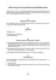 Wahlordnung für den Seniorenbeirat der Stadt Radevormwald