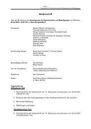 Niederschrift der 16. Sitzung vom 02.04.2003 - Stadt Radevormwald