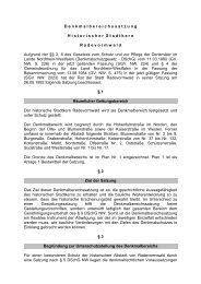 Denkmalbereichssatzung - Stadt Radevormwald