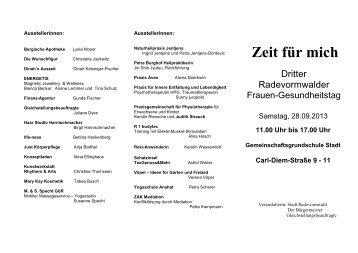 Info-Flyer - Stadt Radevormwald