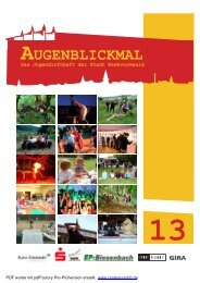 Jugendinfoheft 2013 - Stadt Radevormwald