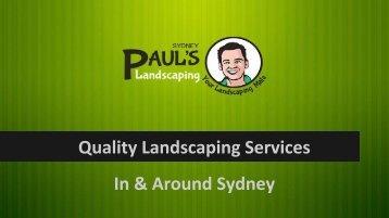 Paul's Landscaping Sydney