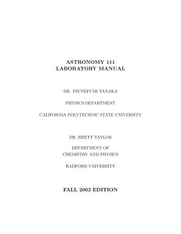 Lab Manual - Radford University