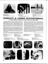 a video invitational at the everson museum of art ... - Radical Software