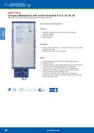 Light-Class Compact Multiswitch with active terrestrial 9 in 8, 16, 24 ...