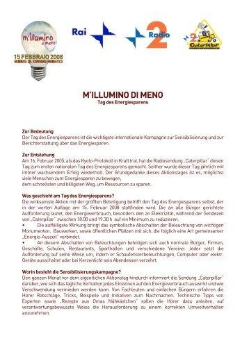 M'ILLUMINO DI MENO - Radio Rai