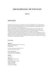 ERICH KORNGOLD: DIE TOTE STADT - Radio Rai