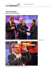 Bilder von der Verleihung - Radio Bremen