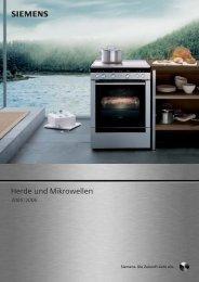 s Herde und Mikrowellen - Siemens Hausgeräte