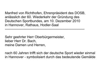 Die Rede Manfred von Richthofens im Wortlaut - Der Deutsche ...