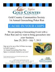Poker run flyer - Gold Country