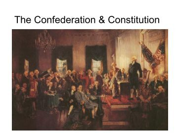 confederation constitution C) briefly explain one specific way in which the united states constitution   note: responses may address either the articles of confederation or the actions  of.