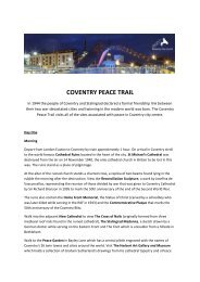 COVENTRY PEACE TRAIL - Thedms.co.uk