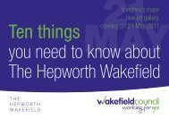 Ten things you need to know about The Hepworth Wakefield - thedms