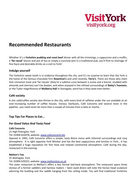 Recommended Restaurants Thedms Co Uk