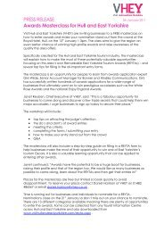 PRESS RELEASE Awards Masterclass for Hull and ... - Thedms.co.uk