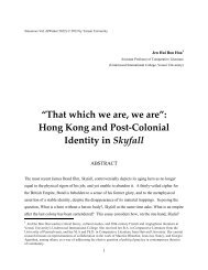 """That which we are, we are"": Hong Kong and Post-Colonial Identity ..."