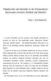Subjektivität und Identität in der Postmoderne - phya.yonsei.ac..