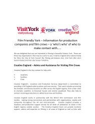 Screen Yorkshire – Facilities and Assistance for ... - Thedms.co.uk
