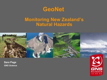GeoNet - Ministry of Civil Defence and Emergency Management