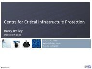 Centre for Critical Infrastructure Protection Barry Brailey ...