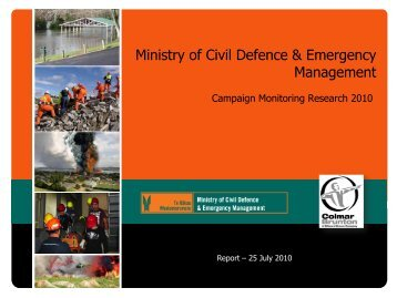 Prepared at home - Ministry of Civil Defence and Emergency ...