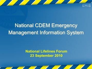 National CDEM Emergency Management Information System - Ministry ...